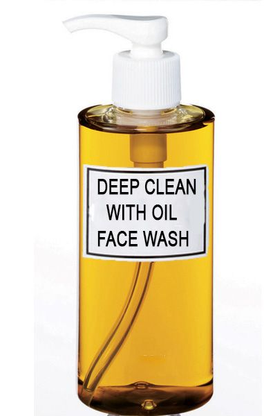 Go natural and wash your face with oil to restore and rejuvenate your skin. Coconut oil, jojoba oil & an essential oil.