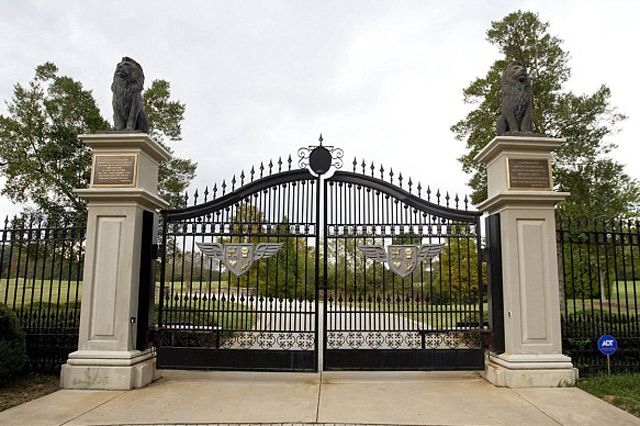 The Gate Entrance To The Mansion From Here To The Moon