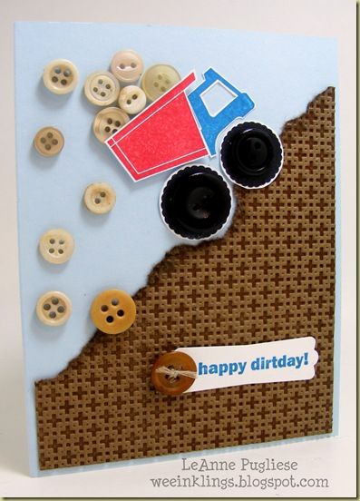 cute boy card with buttons