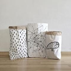 Storage . Reusable Paper Sack - Size / Print Options