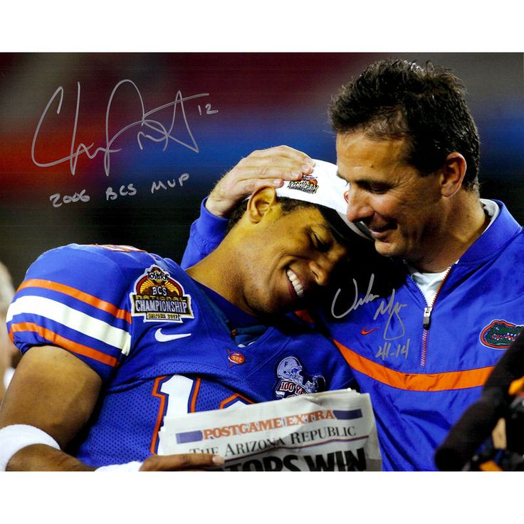 "Urban Meyer, Chris Leak Florida Gators Fanatics Authentic Autographed 16"" x 20"" Gators Photograph with MVP/41-14 Inscriptions"