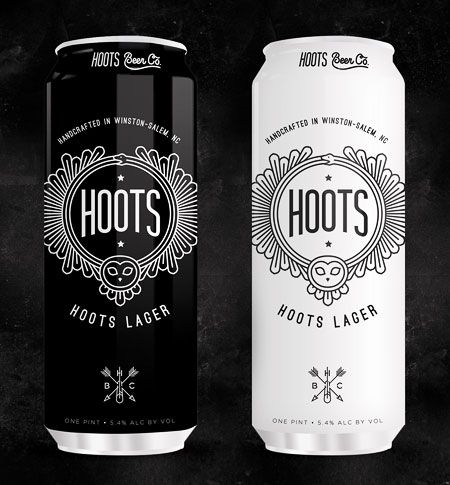 Hoots Beer Cans designed by Airtype. Beer in black and white #packaging PD