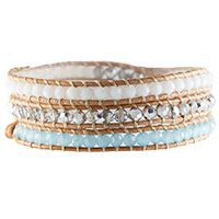POOL BLUE CRYSTAL BEADED WRAP With hues of white, silver and light blue crystals, the Pool Blue Crystal Beaded Wrap will make you day dream of days spent lounging beside the pool.