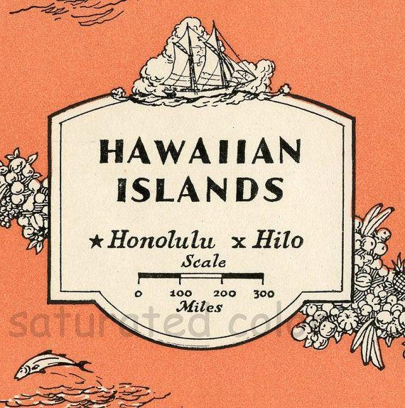 The Hawaii Islands Map
