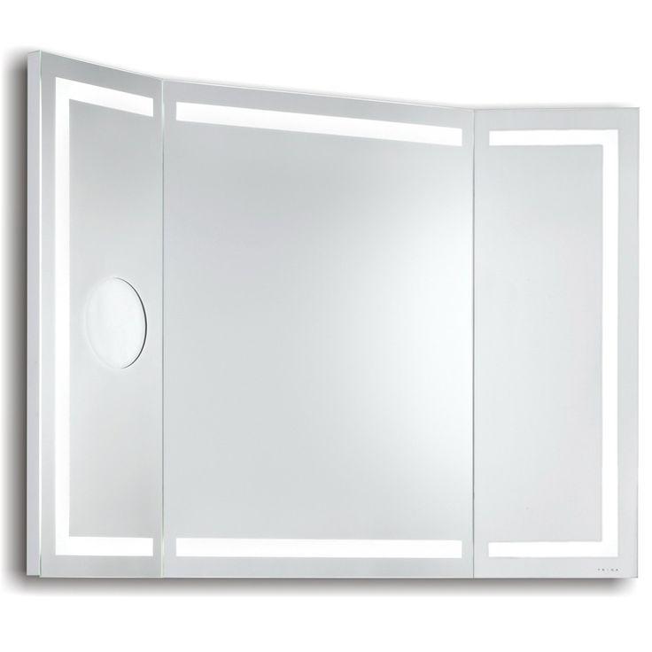 stunning miroir lumineux led de salle de bains miami l x hcm with miroir trois faces salle de bain. Black Bedroom Furniture Sets. Home Design Ideas