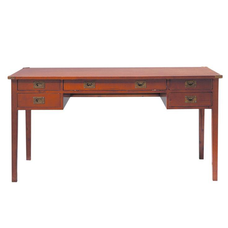 Scrivania in massello di legno L 151 cm