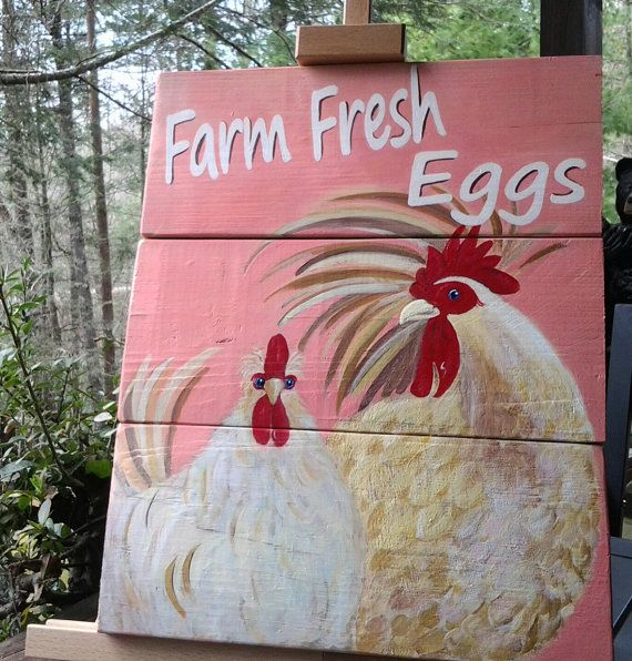 Fresh Eggs Sign Egg sign Kitchen Decor Chicken by TheBrownHens