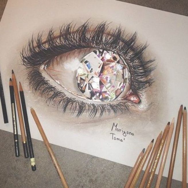 15 Amazing Drawings That Look 3d Eye Drawing Art Things To
