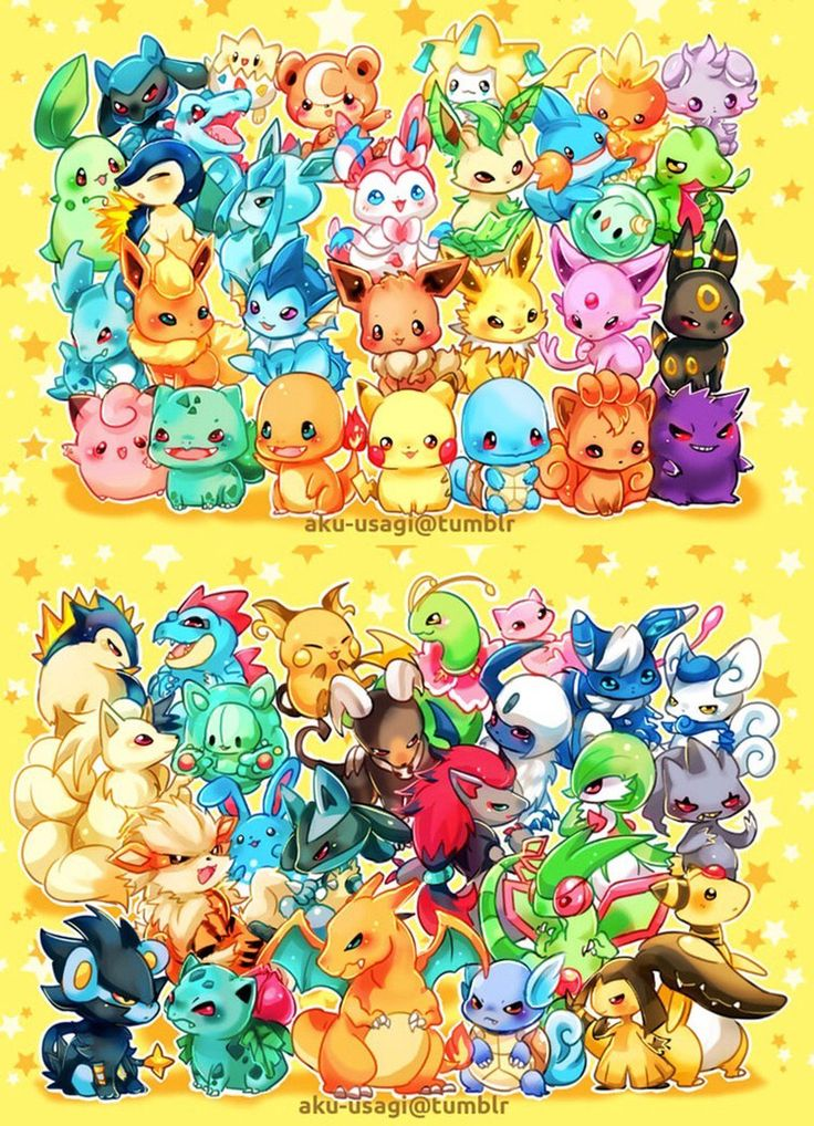 Chibi Pokemon! >w<