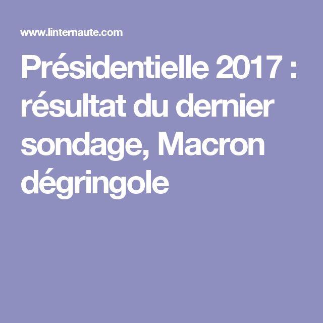 Présidentielle 2017: résultat du dernier sondage, Macron dégringole