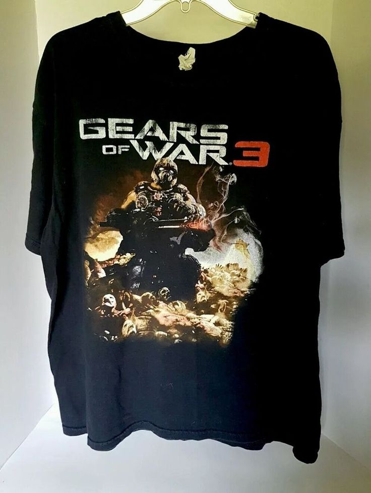 Mens Anvil Gears Of War 3 Black Video Game Graphic Pre-shrunk T-shirt XL | Clothing, Shoes & Accessories, Men's Clothing, T-Shirts | eBay!