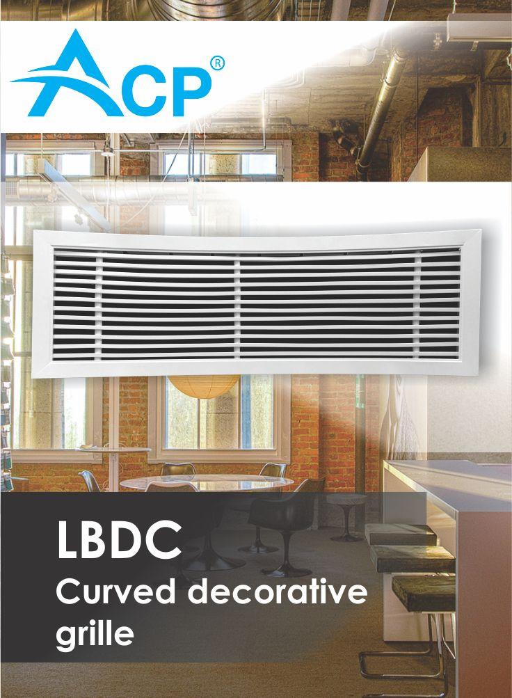 LBDC Curved Decorative Ventilation Grille (Grila Decorativa Curbata )   | #hvac | #acp | #manufacturer | #ventilation | #products | #romania