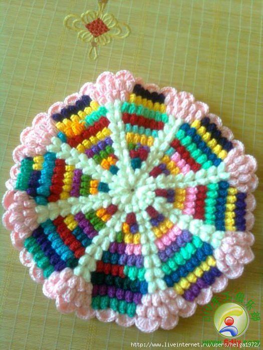 #Crochet #Tutorial: Pictures Step, Tutorials Pictures,  Dishcloth, Photo Tutorials, Crochet Mandala, Pictures Tutorials, Carrie Colour, Mandala Pictures, Mandala Tutorials