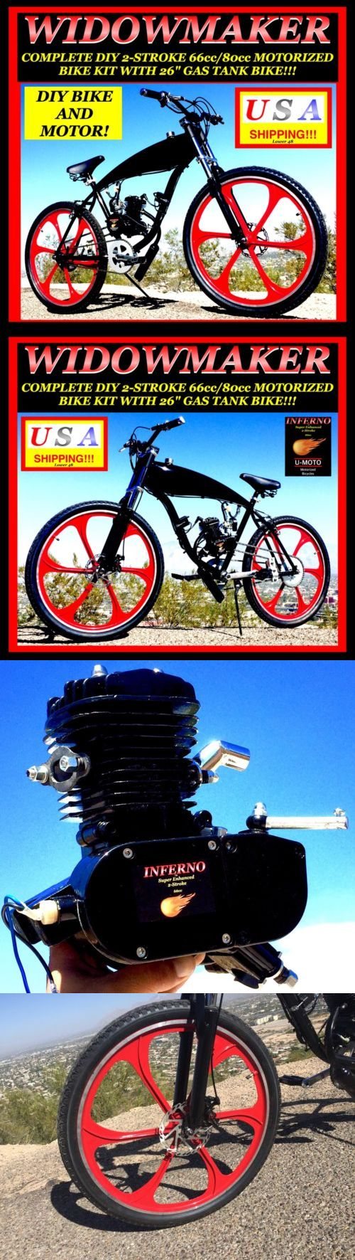 Gas Scooters 75211: Complete Diy 2-Stroke 66Cc 80Cc Motorized Bicycle Kit With 29 Gas Tank Bike! -> BUY IT NOW ONLY: $699.99 on eBay!