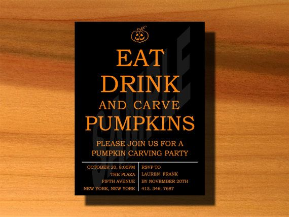 Halloween Pumpkin Carving Party Invitation on Etsy, $5.00