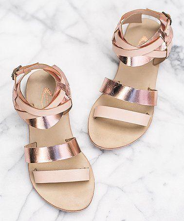 e764d6d0f2a0 Love this Rosegold Harper Sandals - Girls on  zulily!  zulilyfinds ...