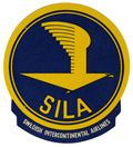 vintage poster, SILA - Swedish Intercontinental Airlines (Luggage Label)