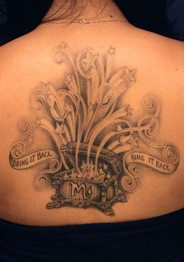 LA Ink back tattoo