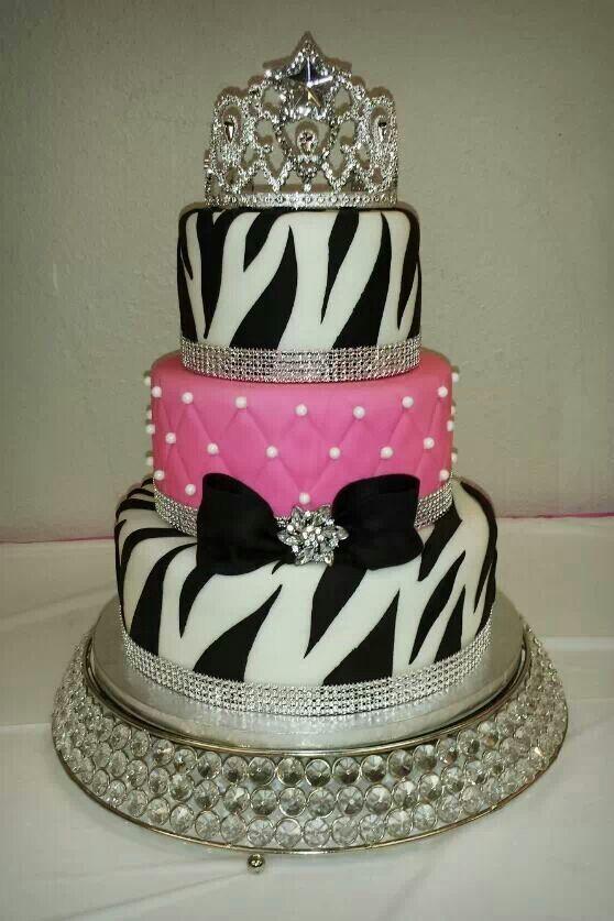 Zebra and hot pink cake www.facebook.com/cakesbyjenhavenar