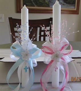 9 Ideas de cómo decorar velas para bautizos y primera comunión ~ Solountip.com