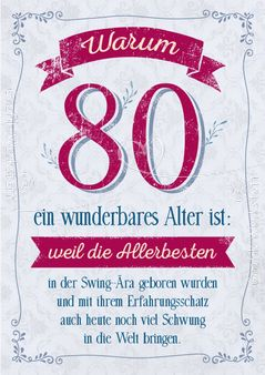 Schön Warum 80 Ein Wunderbares Alter Ist:   Doppelkarten   Grafik Werkstatt  Bielefeld