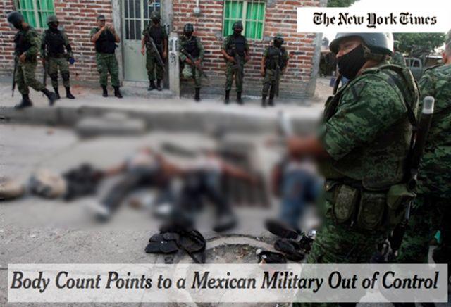 Las Fuerzas Armadas de México matan a 30 Sicarios por cada uno que hieren. - http://www.detodo365.com/2016/05/las-fuerzas-armadas-de-mexico-matan-30.html