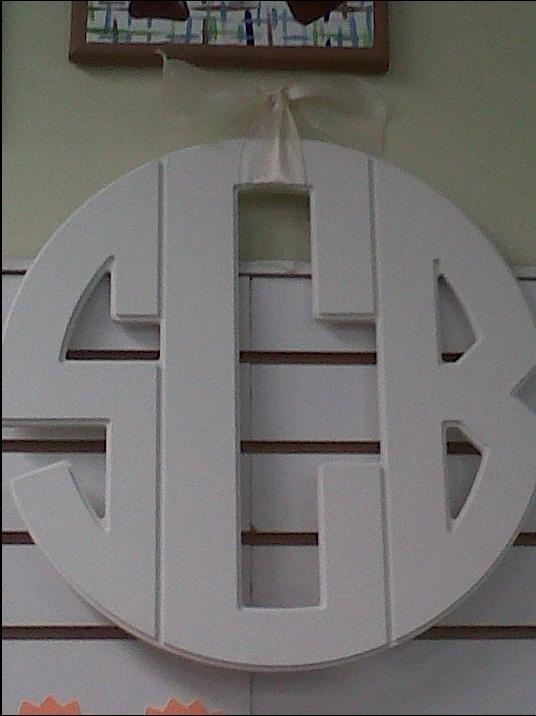 another option for a door monogram - - circle font