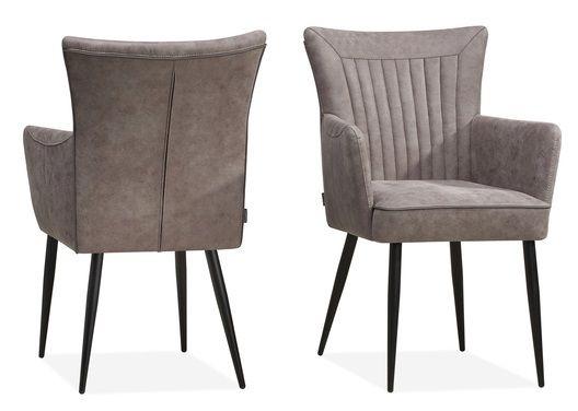 stoel leder , stof , armstoelen rvs , loom ,   centra meubel
