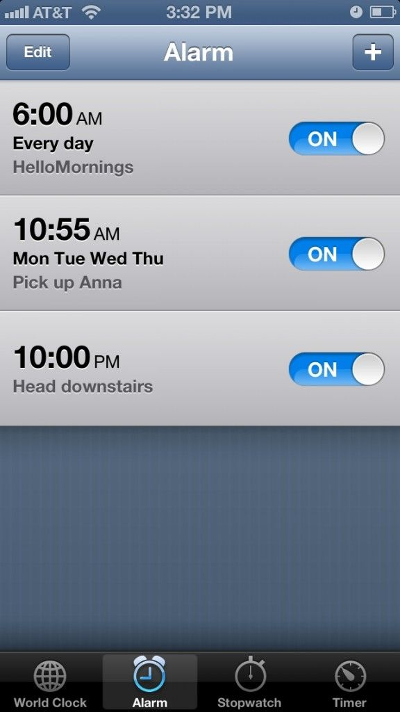 Set an alarm for bedtime