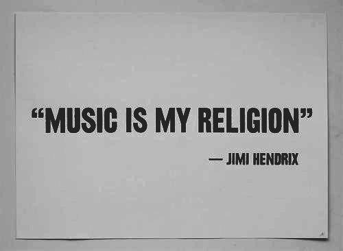Music quote - Jimi Hendrix