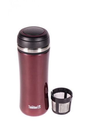 Thermos de couleur rouge bordeaux