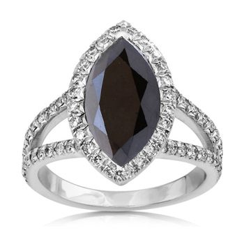 beautiful  black diamond marquise ring | Diamond Engagement Rings, Gold Solitaire Round, Wedding, Earrings ...