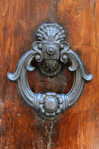 Good Ornate Door Knocker In Florence, Italy