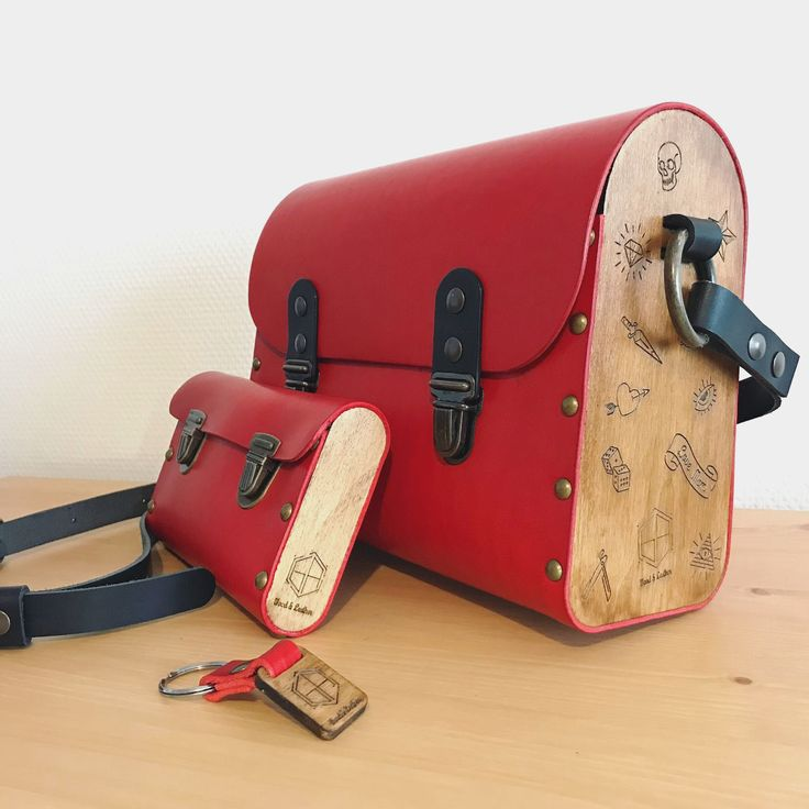 "50 mentions J'aime, 3 commentaires - Greg Alifanti (@woodandleather.fr) sur Instagram : ""Le Rebelle, final . . . #red #black #fashion #woodandleather #bygregalifanti #handmade #bag…"""