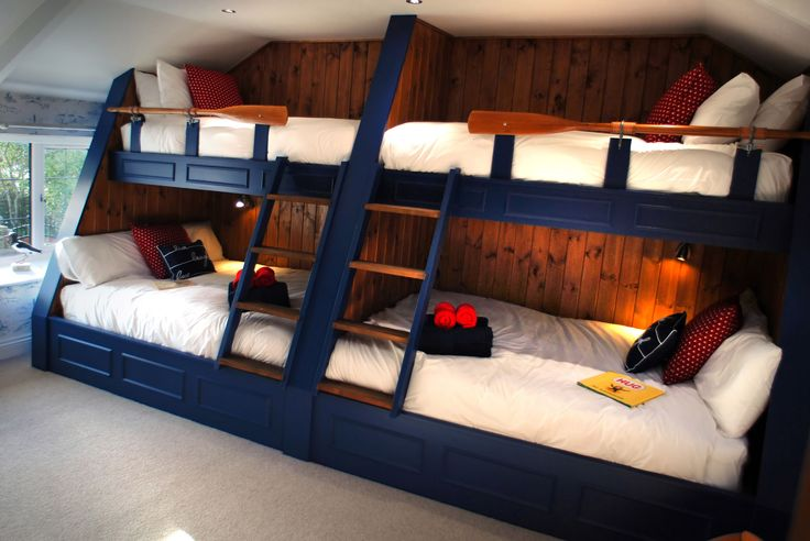 Wouldn't you love to be one of the children sharing this bespoke galley style bunk bedded room at North Star House?