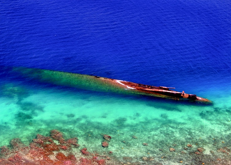 Prinz Eugen sunken ship, sister to the Bismark, off Kwajalein, Marshall Islands