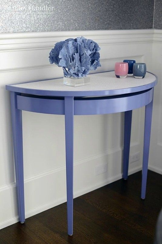 Beautiful Almost Dazzle (Custom Color) Oomph Palm Beach Demi Lune. Hamptons  Holiday House Room By Mabley Handler.