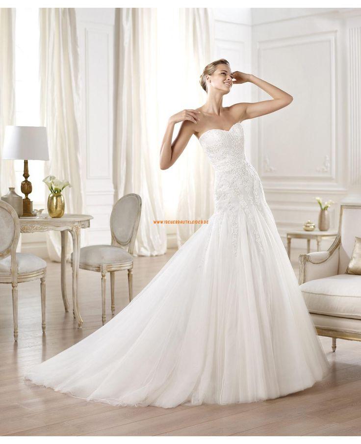 Meerjungfrau Bodenlange Brautkleider aus Softnetz