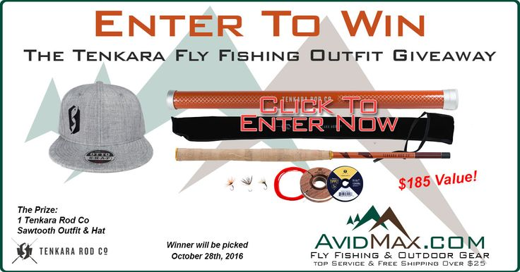 Enter for your chance to win a $185 Tenkara Rod Co Sawtooth fly fishing outfit! Enter Now, then get 5 bonus entries every time anyone enters from your shared link! Good luck!