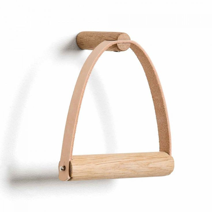 Designstuff offers the latest range of Scandinavian designed toilet paper holders in natural leather and natural oak wood by By Wirth, Denmark.