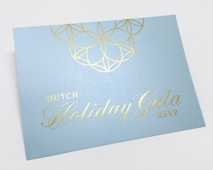 #HutchHolidayGala #2017 #invitation #rsvp designed by Victoria Comfort @vcomfort #GoldFoil #goldfoilprint printed by @tccprint #red #blue