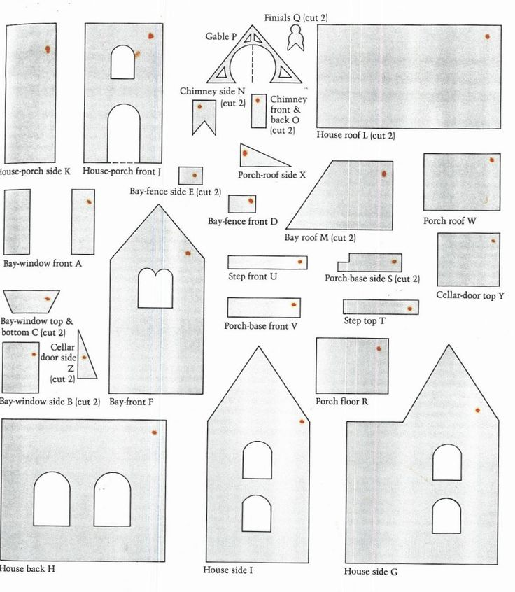 Christmas Gingerbread House Pattern | A+ Gingerbread House Paper Patterns for Children | Paper