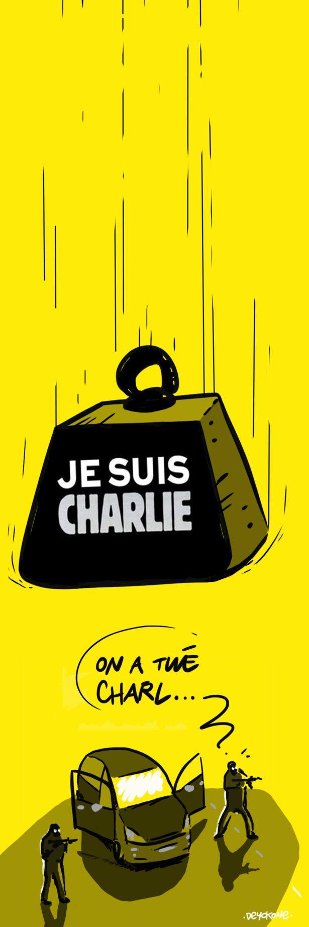 Radio Laser vous livre sa caricature en hommage à Charlie Hebdo