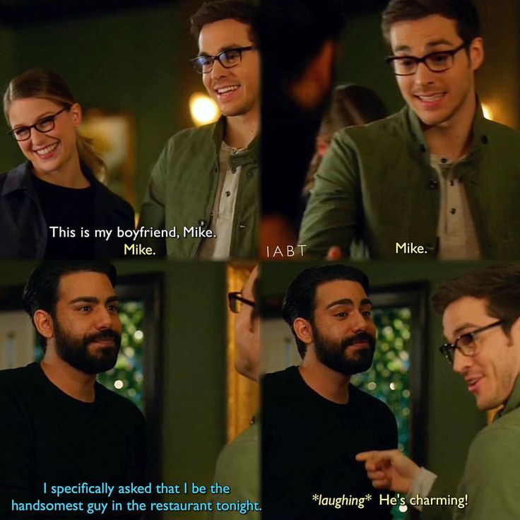 """This is my boyfriend, Mike"" - Kara, Mon-El aka Mike and Jack #Supergirl (by iabt)"