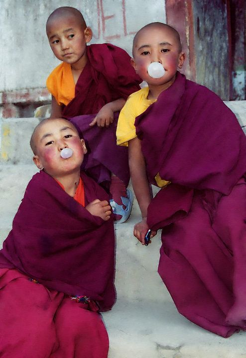 we all laugh, we all cry, we all blow bubbles: Young Monk, Kids Yoga, Buddhists Monk, Children, Blowing Bubbles, They R Monk, Photo, Inspiration People, Beautiful Image