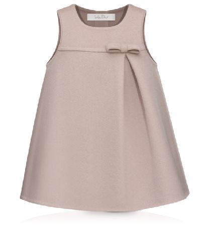 Baby Dior-PINK AND TAUPE DOUBLE-SIDED CASHMERE DRESS – Kriz POp