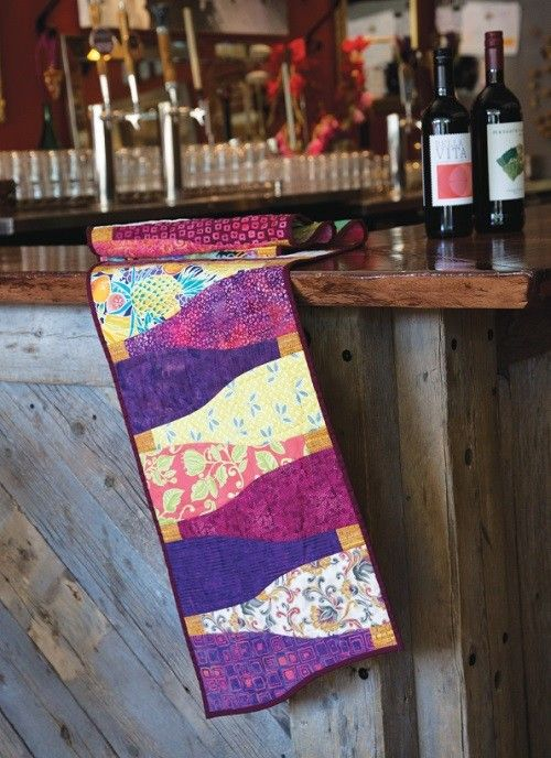 Vino Row Quilt Pattern Download Quilted Table Runners