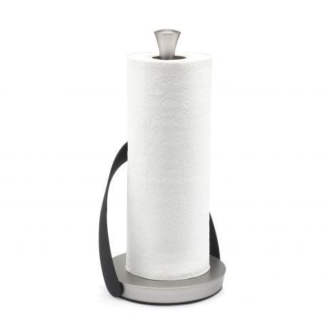Compra online el portarrollos para el papel de cocina Arch de Umbra. Diseño fácil de usar gracias al asa que sujeta y permite el corte a una mano. Níquel.