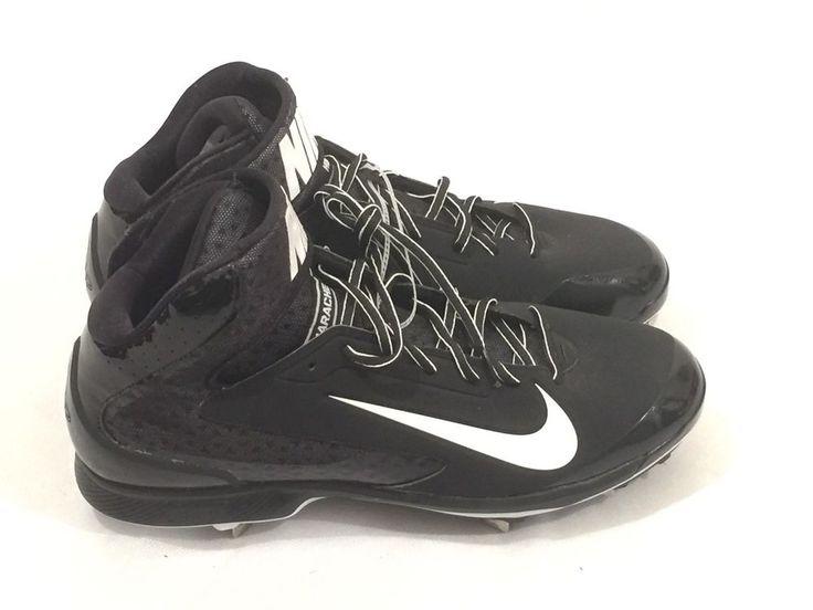 Nike Air Huarache Mid Molded Baseball Cleats Men\u0027s Black Size 13 NWOB