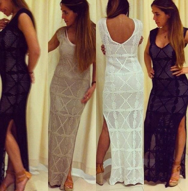 Long Crochet Dress..